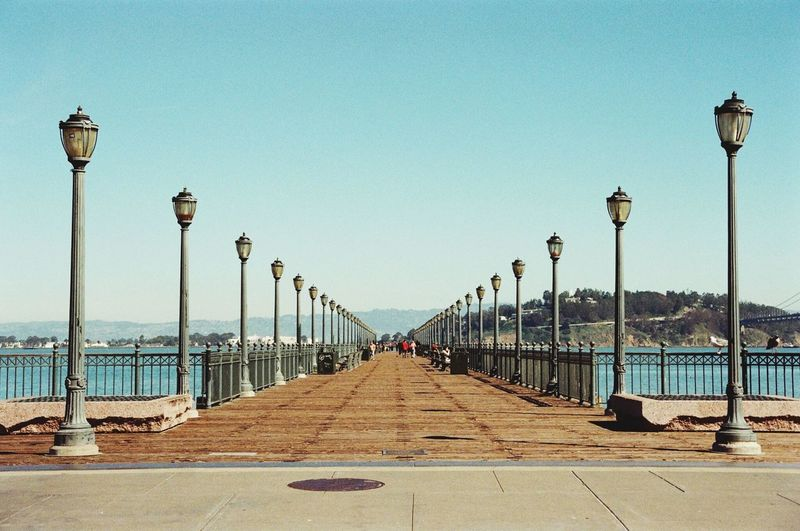 Street Light Lighting Equipment Clear Sky Sky Outdoors Lamp Post City Day No People Bridge - Man Made Structure San Francisco Pier Embrace Urban Life Urban