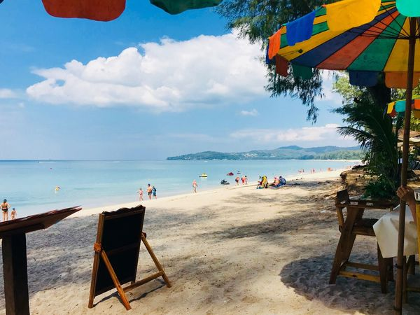 Ban tao beach Travel Thailand Thailnd Reagge Ban Tao Sea Beach Water Sky Real People Sand Nature Horizon Over Water Leisure Activity Outdoors Vacations Lifestyles Beauty In Nature Cloud - Sky Summer