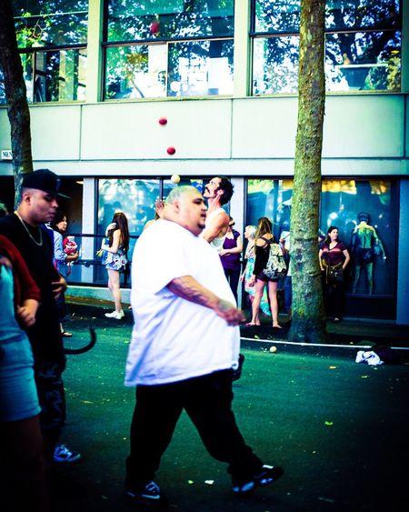 Fourintheair Folklife Festival Jugglers And Festival Goers