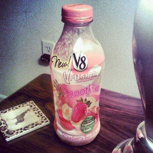 #Yummy #Smoothie #StrawberryBanana #V8 #VFusion . Yummy Smoothie V8 Strawberrybanana Vfusion