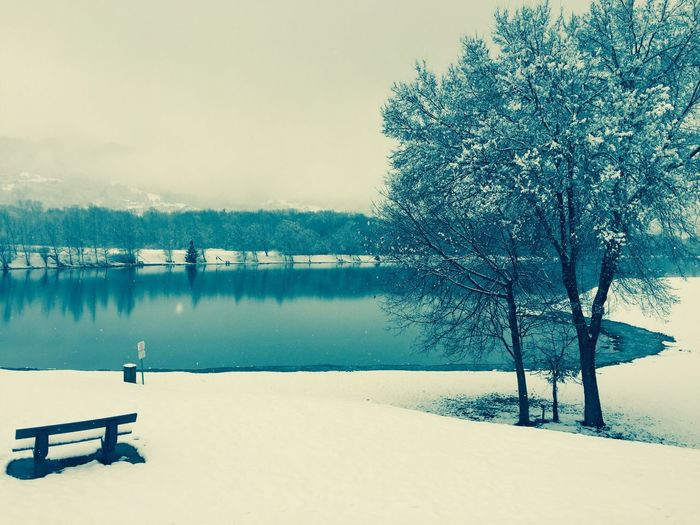 Snow ❄ Taking Photos Nice Atmosphere View Love Seduction Lake View Nice Selection Two Hope