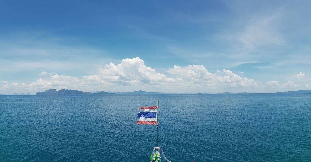 thai sea Water Sea Politics And Government Patriotism Flag Lighthouse Blue Sky Cloud - Sky Boat National Icon Sailing Boat Sailboat Ferry