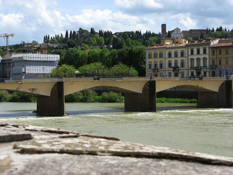 Ancient Arch Architecture Bridge Bridge - Man Made Structure Bridge Over Arno River City Life Cloud - Sky Day Engineering Family Firenze History No People Old Town Outdoors River River Arno Tourism Tourist Attraction  Travel Destinations Water Waterfront