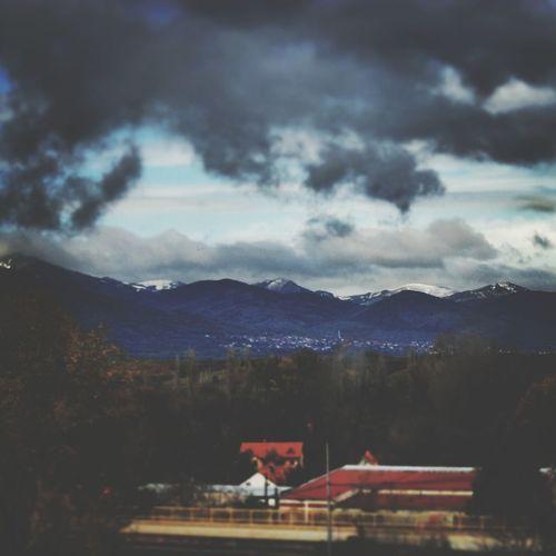 Scream to the sky Mountain Snow Retro Landscape