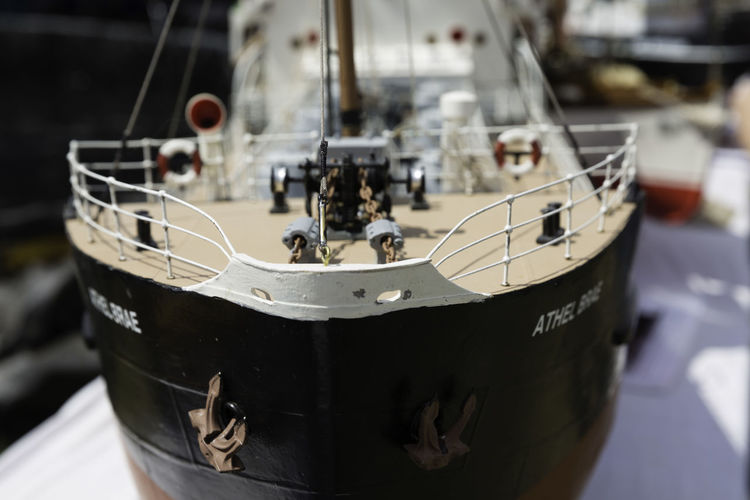 'Sea Worthy' Art Imitating Life Boat Close-up Crafted Focus On Foreground Journey Miniture Mode Of Transport Model Model Boat Model Ship No People Not Real Ocean Liner Realistic Sail Away Sail The Sea Sea Going Ship Steam Fair Toy Ship Travel Vessel Voyage Watercraft