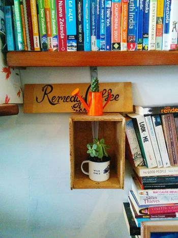 Coffee is the best remedy (2/3). Plant Coffee Time Coffee Break Coffee Shop Decoration Interior Design Books Open Edit