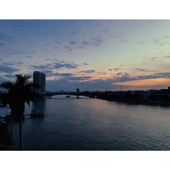 Chaopraya River Sunset Outdoors Cloud - Sky Sea Silhouette Sky Beauty In Nature