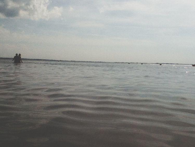 Enjoying Life Relaxing Sea And Sky