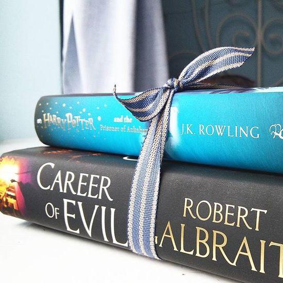 Two of JK Rowling's third novels, Prisoner of Azkaban and Career of Evil 💓 Books Bookstagram Bibliophile  Book British Bookphotography Bookblog Bookporn Booknerd Jkrowling Harrypotter WizardingworldofHarryPotter Bloomsbury RobertGalbraith Cormoranstrike Careerofevil