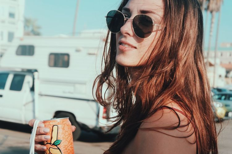 Chill Sunglasses One Person Real People Long Hair Young Adult Focus On Foreground Young Women