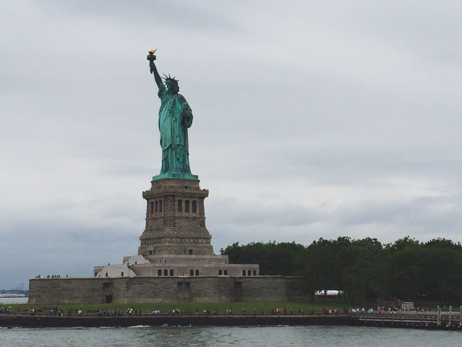 NYC Liberty. Statue Travel Destinations Water Cultures Urban Skyline Monument Freedom Outdoors Tourism City No People Architecture Sky Symbol Cityscape Day EyeEmNewHere EyeEmNewHere