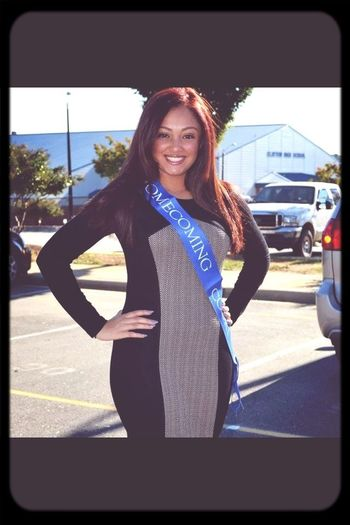 Love this picture of me before the clayton homecoming parade