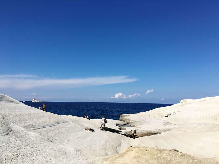 Milos Sarakiniko Greece Beach Moon Holiday