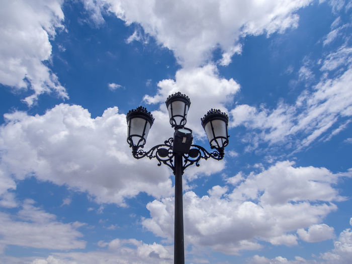 Low Angle View Of Gas Light Against Sky