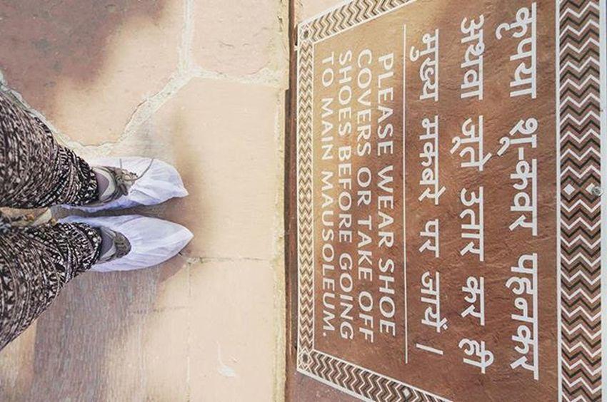 Shoes cover... Before entering the Taj Mahal! Rachatravelsindia