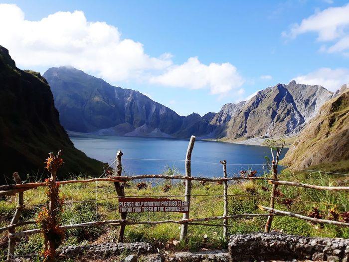 Mt. Pinatubo Crater Lake Water Mountain Lake Tree Protection Sky Mountain Range Grass Landscape Cloud - Sky