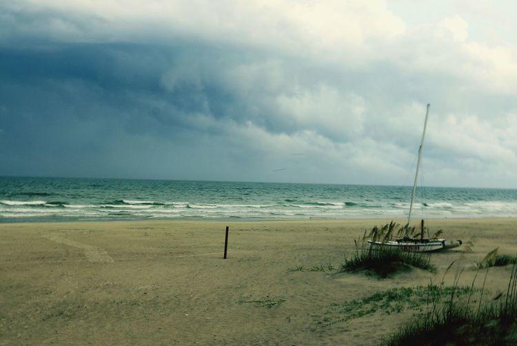Fine Art Photoghraphy Sailboat On Beach Beach After Storm