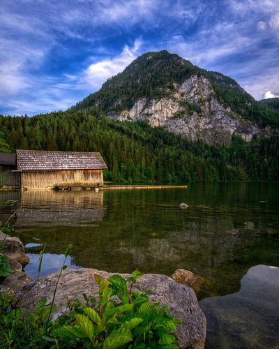 Gleinkersee Water Tree Plant Sky Growth Lake Nature Beauty In Nature Cloud - Sky No People Reflection Day Mountain Outdoors
