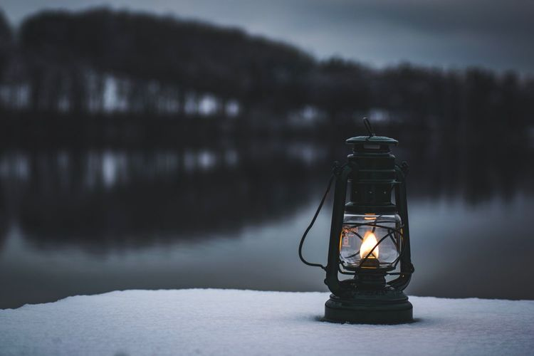 Lighting Equipment Illuminated Electricity  Technology No People Light Bulb Focus On Foreground Close-up Lantern Oil Lamp Cold Temperature Nature Outdoors Shades Of Winter