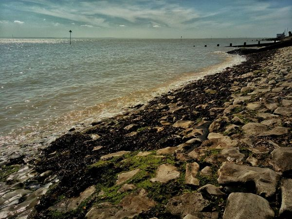View from Southend beach, with the tide coming in. Sea View Landscape Sea Seascape Seaside Sea And Sky Southend British Seaside This Is Britain Southend On Sea Tides The Sea