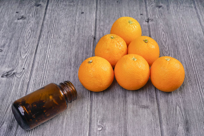 Detox Orange Close-up Day Food Food And Drink Freshness Fruit Healthy Eating Indoors  No People Orange Color Ready-to-eat Still Life Table Vitamin Wood - Material
