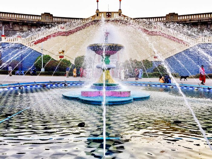 Fountain Splash Water Day Real People Outdoors Architecture One Person Sky