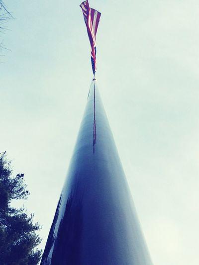 USA American Flag Windy Day Abingtonpark