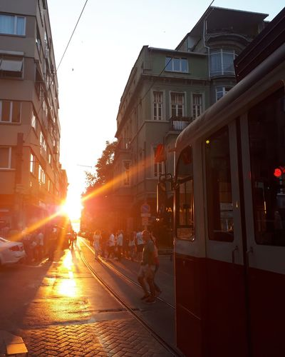 Sunset in Moda,Turkey Photographyart Photoshootlover Photos#shootings#stylish Photography_top Photoshootsession Photoshootready Photographers_tr Photographyproject#tramway#lifeinthestreets#istanbul# Photoshootoftheday Car City Life Street Sky Architecture Built Structure Tram