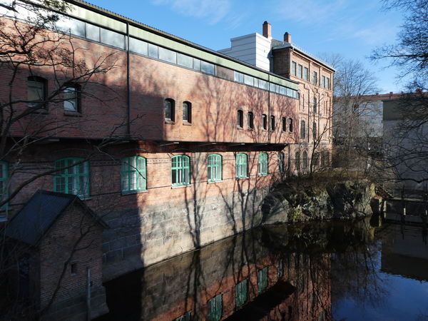 Architecture Reflections In The Water Akerselva Building Exterior River Old Industrial Architecture Sky Urban Lifestyle Citylife Light And Shadow