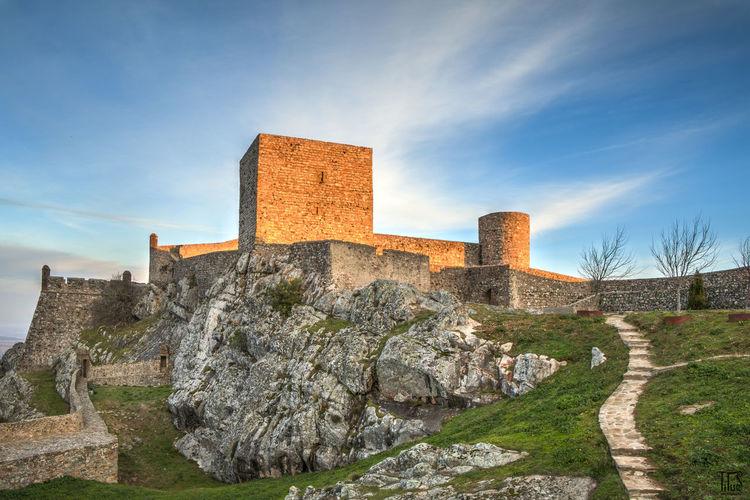 Castle Medieval Pathway Sunrise