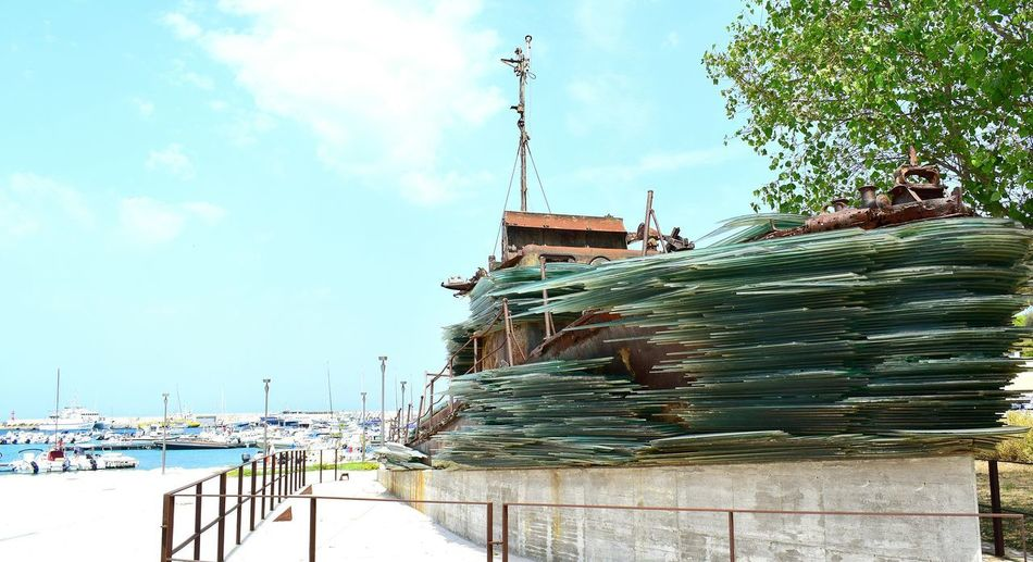 Architecture Outdoors No People Built Structure Water Sea And Sky Otranto Monument Place Ship