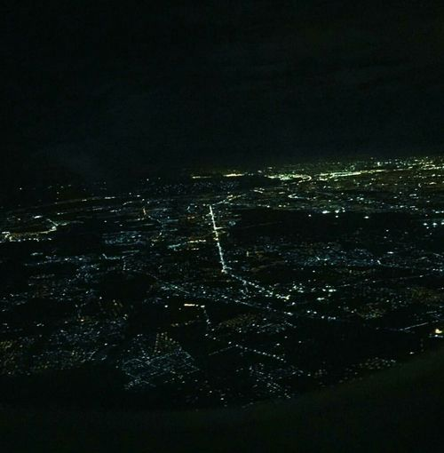 Traveling Home For The Holidays as we're about to land..the lights awaken my soul for xmas.. Cityscape Sky Night Backgrounds Illuminated No People Black Background