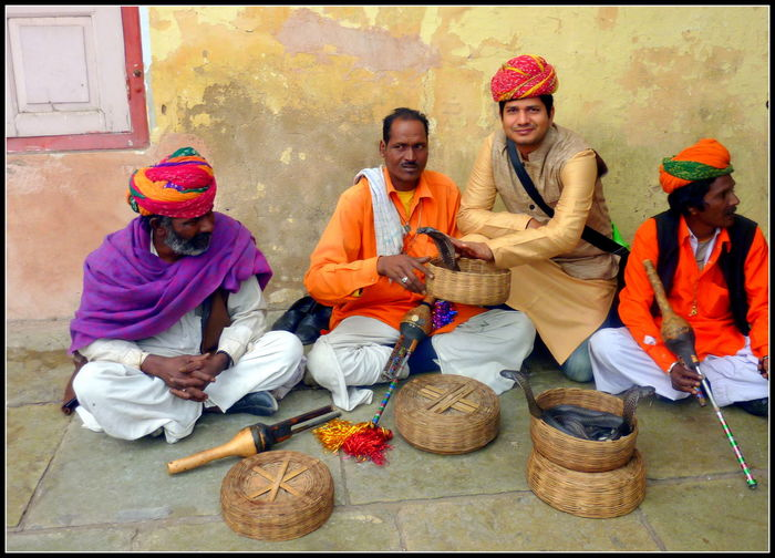 Casual Clothing Happiness India Jaipur Leisure Activity Lifestyles Rajesthan Sitting Snake Charmers Streetphotography Traditional Clothing Travel Photography