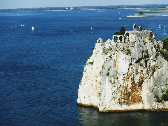 Italy Duino Castle Water Sea Day Beauty In Nature Nature Nautical Vessel Land Rock Rock Formation Tranquility Outdoors