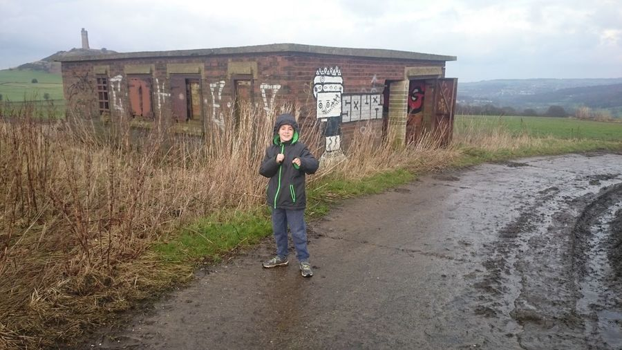 Urbexing with the boy. Huddersfield haa battery. Urbexing Huddersfield Heavy Anti Aircraft Battery