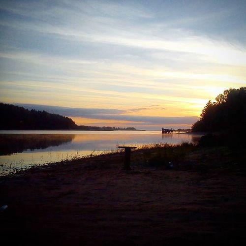 Река Себла) рыбинка рыбинскоеморе рыбинскоеводохранилище себла рассвет