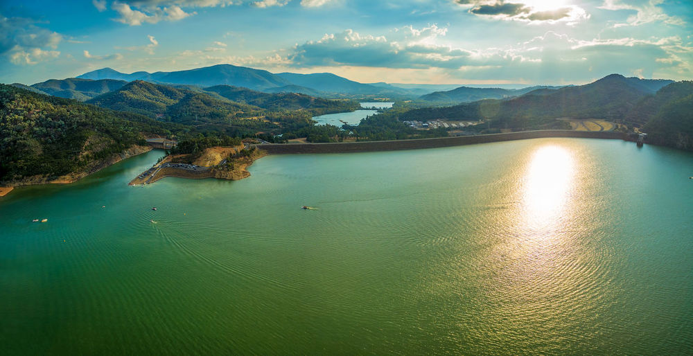 Lake Eildon Dam aerial view at sunset. Melbourne, Australia. Australia Australian Australian Landscape Drone  Nature Scenic View Aerial Aerial View Beauty In Nature Dam Day Drone Photography Eildon Lake Lake Eildon Landscape Mountain Mountain Range Nature No People Outdoors Park Scenics Sky Tranquility Water Waterfront
