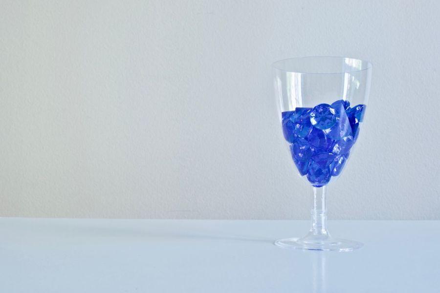 Drinking Glass Wineglass Blue No People Party - Social Event Hobby Accesories Diamond Life Beautiful Diamonds Rich Life Decoration Luxury Design Wine Glass Blue Diamonds Diamond Indoors  Celebration Diamonds Shot Glass