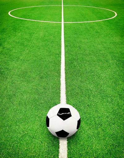Light bulb on soccer field