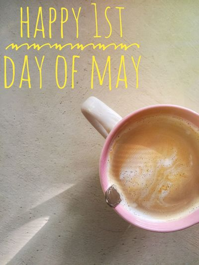 Happy first day of May 🌼🌸 May Spring Springtime Coffee Cup Drink Coffee - Drink Food And Drink Coffee Coffee Time IPhone IPhone Photography Iphoneonly Iphonesia Iphonephotography Iphone6