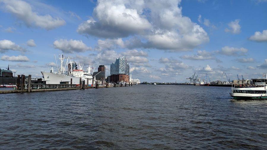 Elbe river with