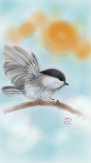 Digitalpainting ArtWork Animelover Birds My Digital Art Digitalart  Painting Animals Pet Love Pet Portrait