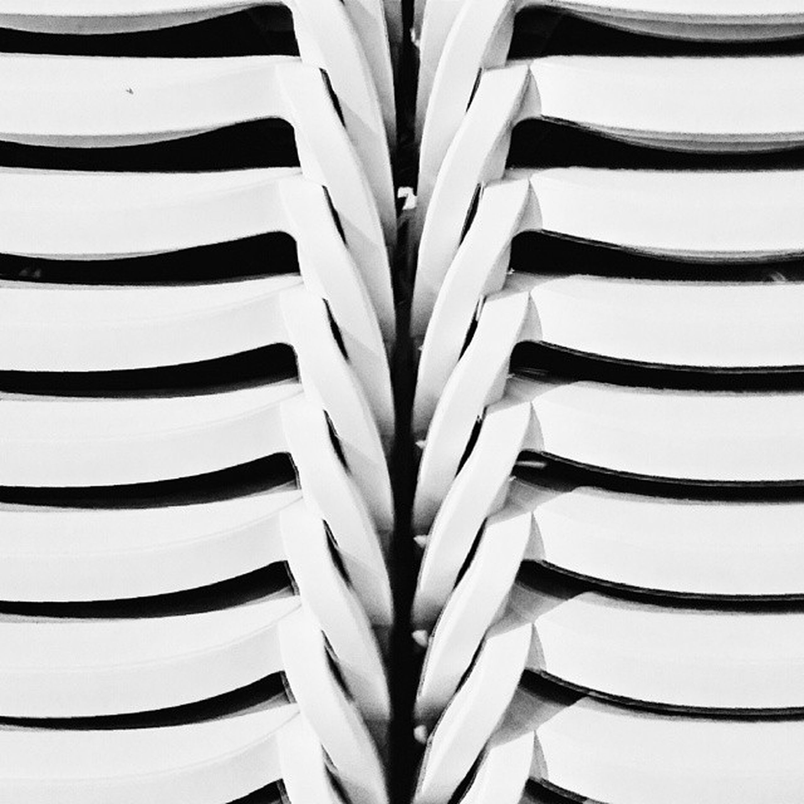 full frame, backgrounds, pattern, design, repetition, abstract, close-up, in a row, low angle view, detail, textured, no people, part of, white color, spiral, shape, day, indoors, building exterior, studio shot