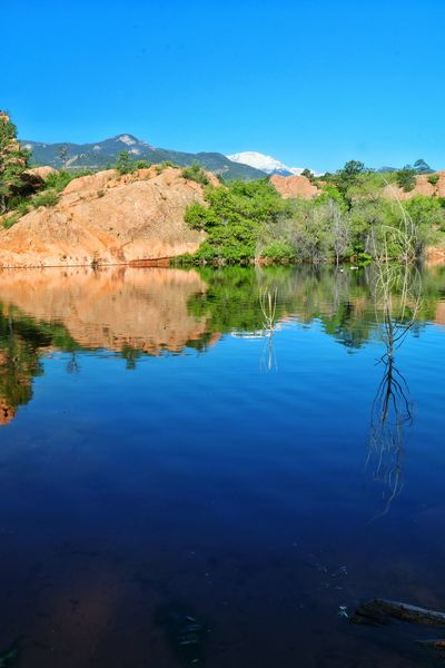 """""""Nothing but blue skies, do I see."""" Reflection Water Water Reflection Landscape Nature Photography Landscape_photography Nature Mountains And Sky Morning Light Morning Morning Sky Ladyphotographerofthemonth Photography Photooftheday Coloradophotographer Colorado Photography Colorado Springs Coloradosprings Colorado"""