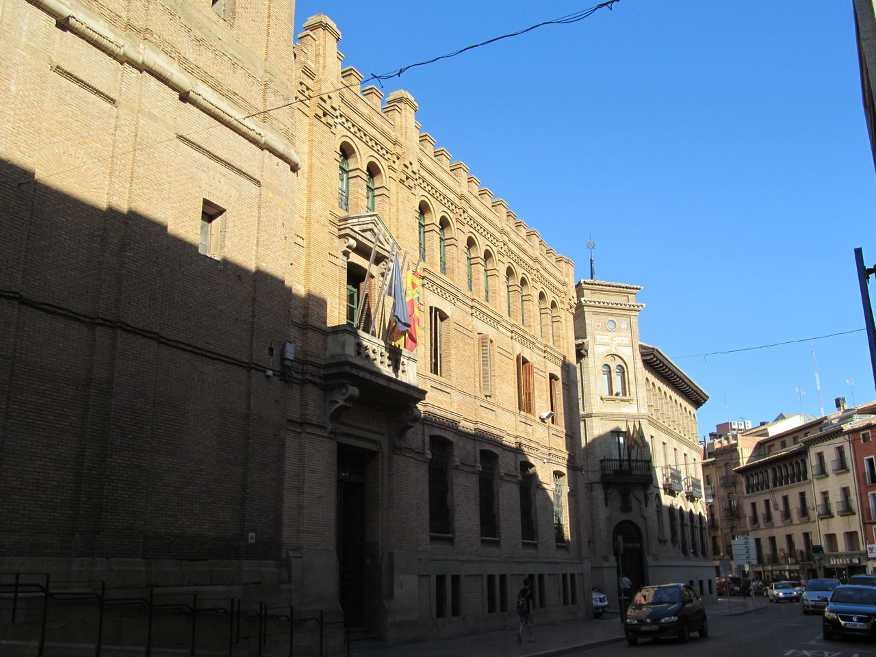 Low Angle View Of Building By Street