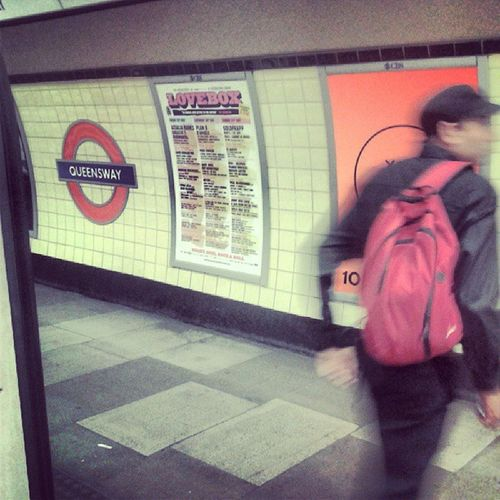 LondonTube London Tube Travelingram Tflers Instalike Iliketrain Undergroundisway Underground Youhavetobefast Man Redbag Boyinblack Webstagram Queensway Piccadillycircus Picoftheday