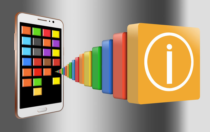 Cell Phone Photography Mobile Phone Applications  Cell Phone Apps Colorful Generic Illustration