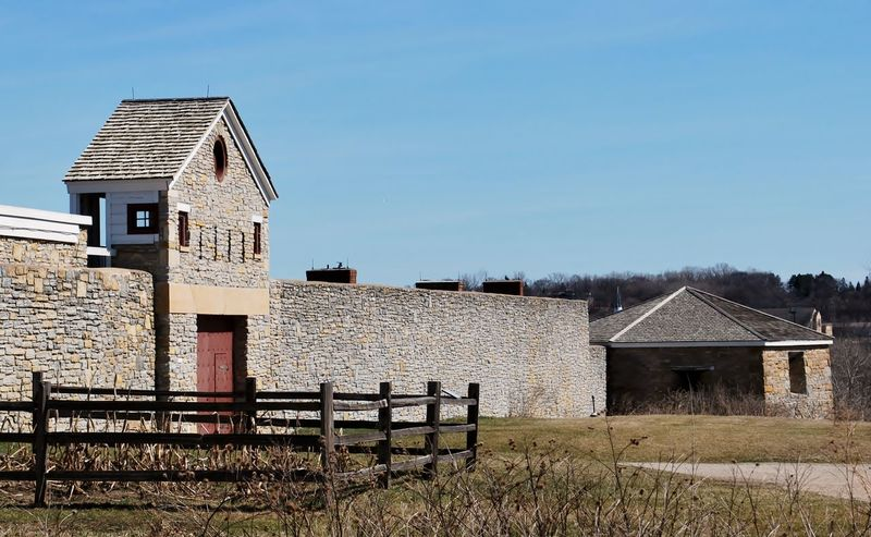 Architecture Barn Building Exterior Built Structure Clear Sky Day Field Fort Snelling House Nature No People Outdoors Sky