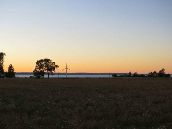 Landscape Evening Evening Light Evening Sky Windmill Orange Sky Silhouette Outdoors Cycling