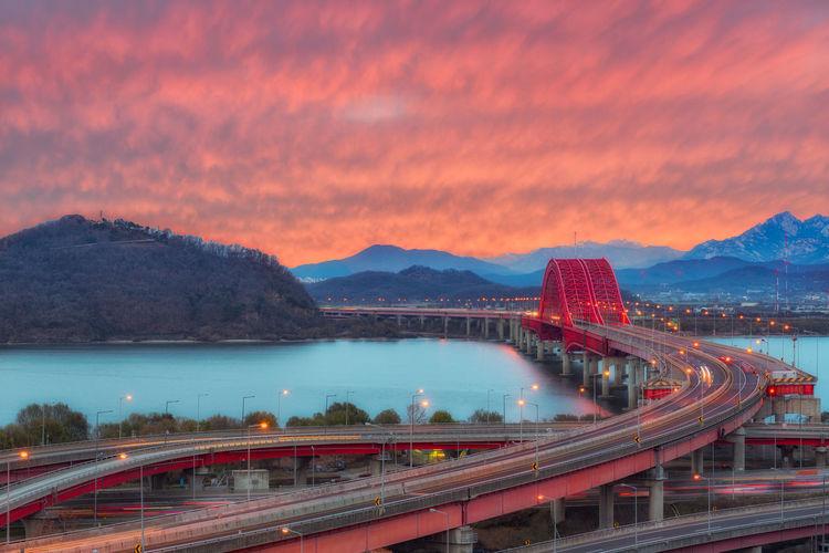 Banghwa bridge at sunset